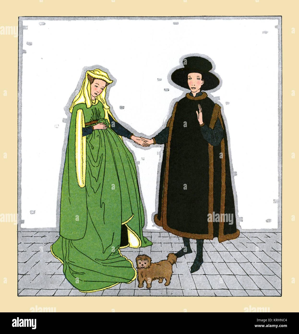 Il matrimonio di Arnolfini Immagini Stock