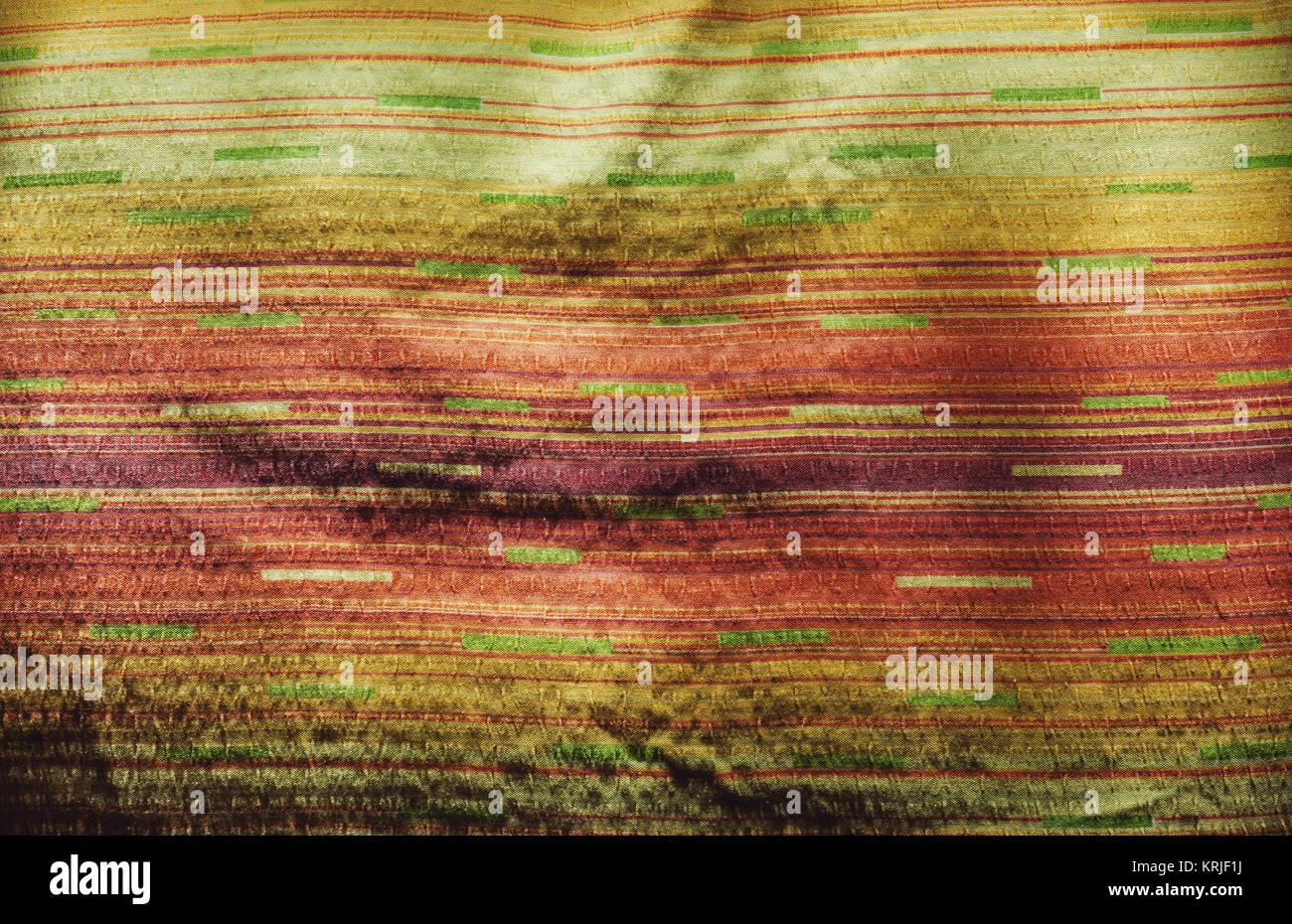 Vista ingrandita di colorate lenzuola, dettagli di texture. Immagini Stock