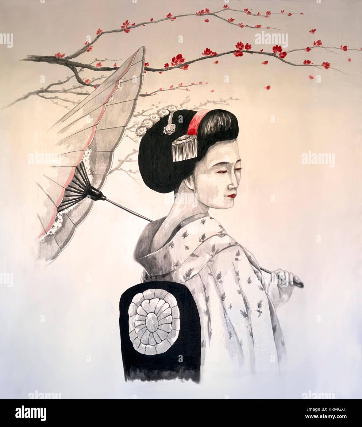 Famoso Geisha Art Immagini e Fotos Stock - Alamy RL54