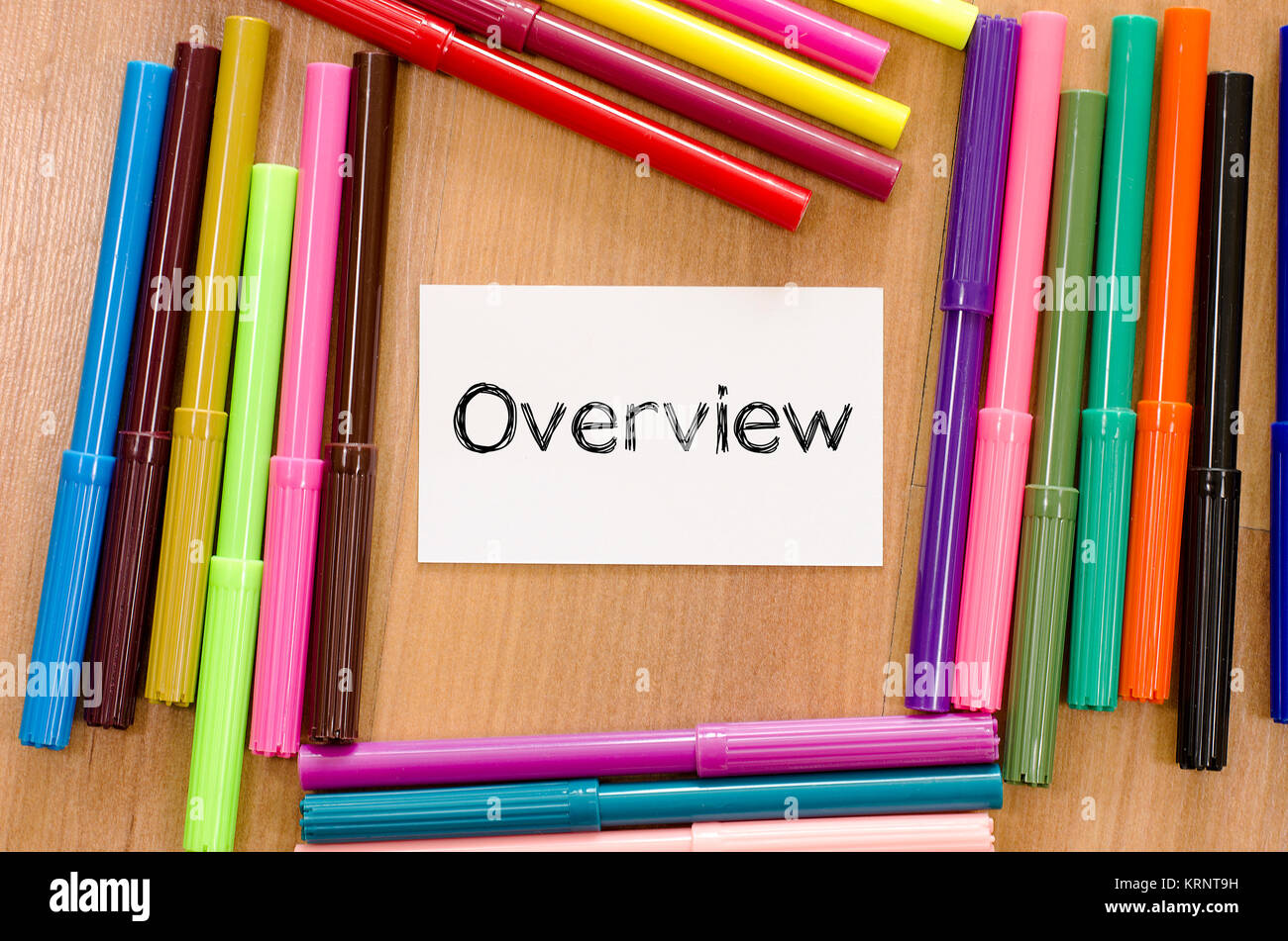Panoramica sulla scritta nota Immagini Stock
