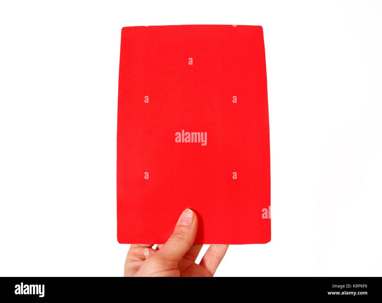 Rote Karte - scheda rossa Immagini Stock