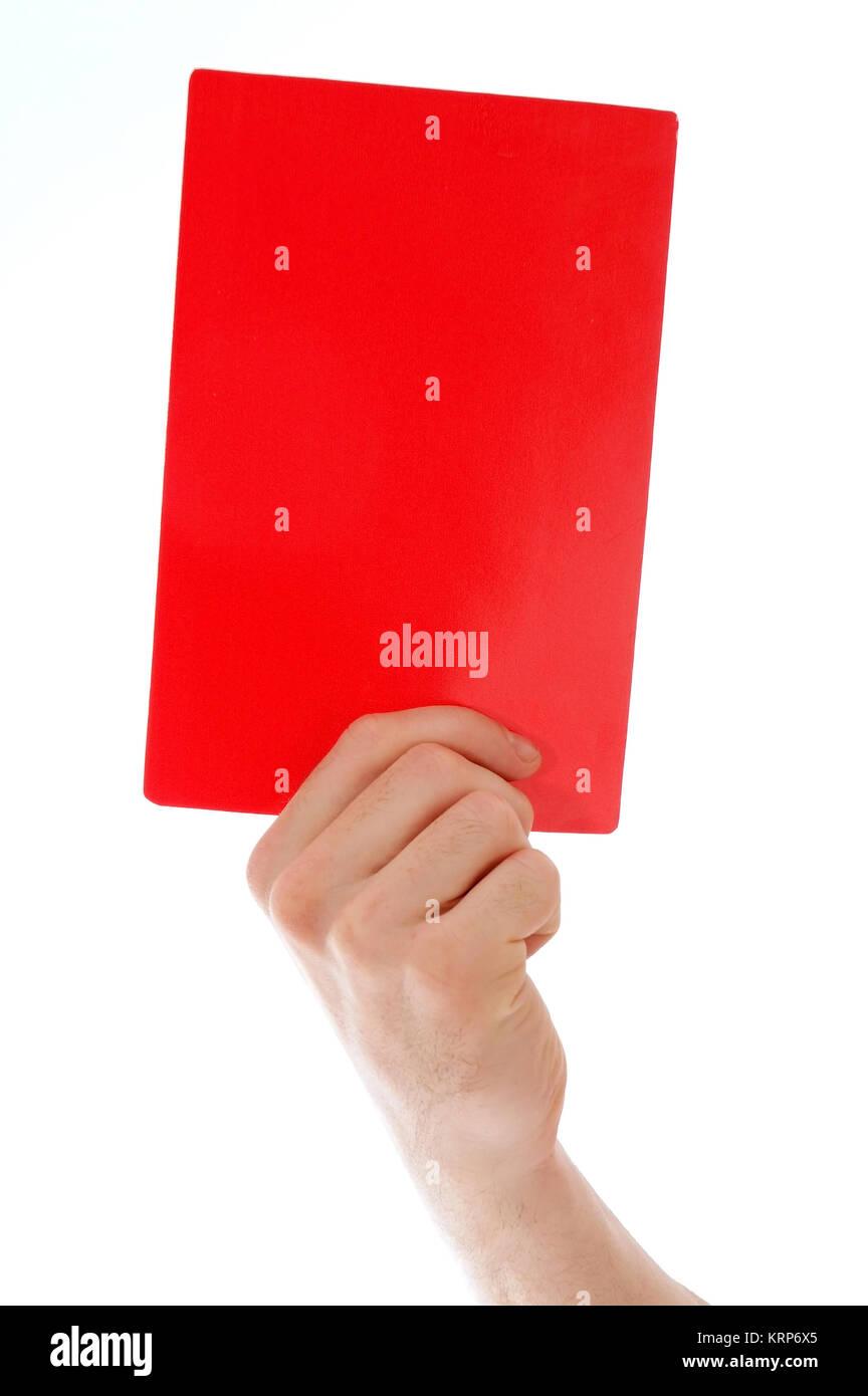 Rote Karte zeigen - scheda rossa Immagini Stock