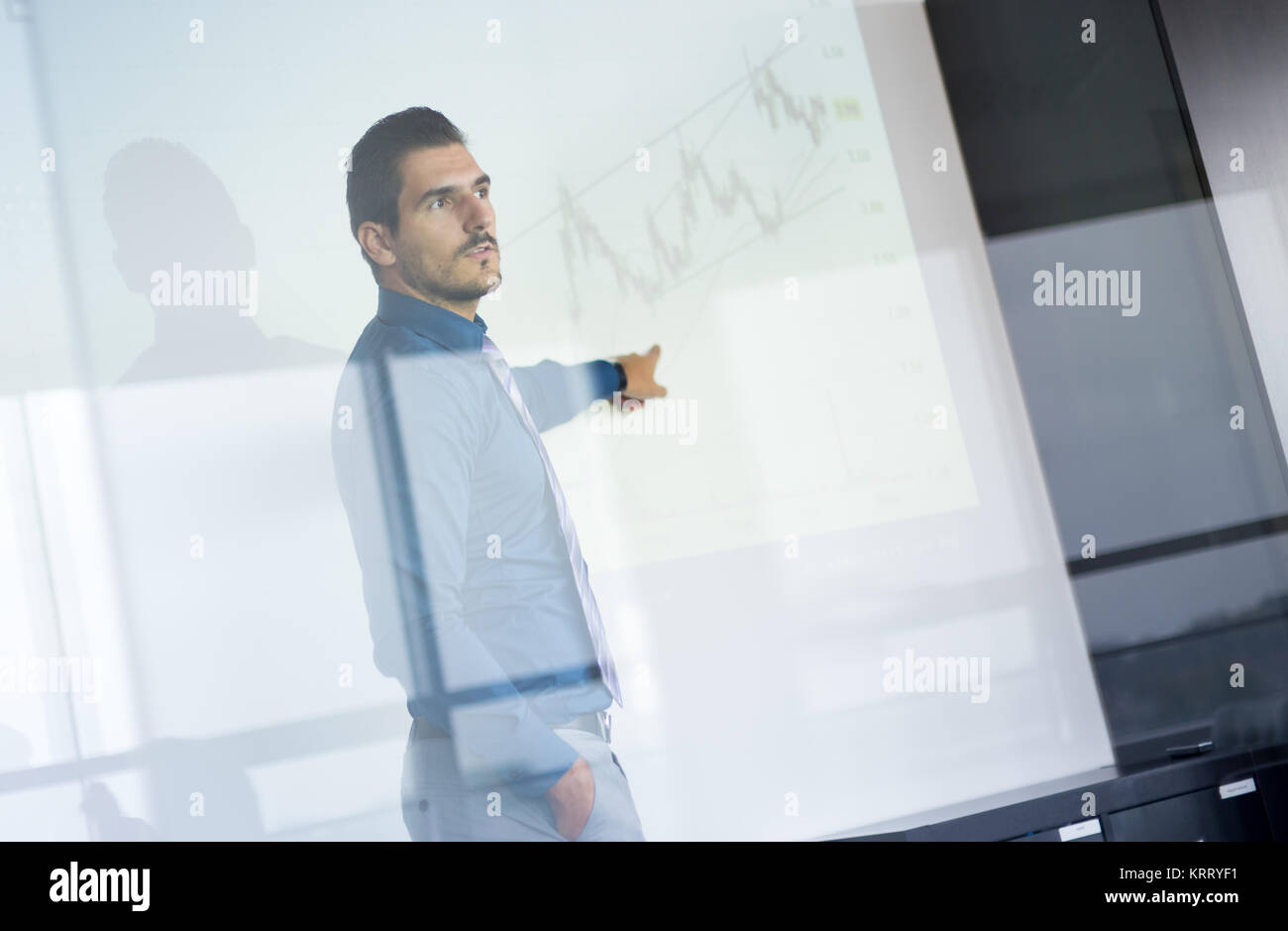 Presentazione aziendale sulla riunione aziendale. Immagini Stock