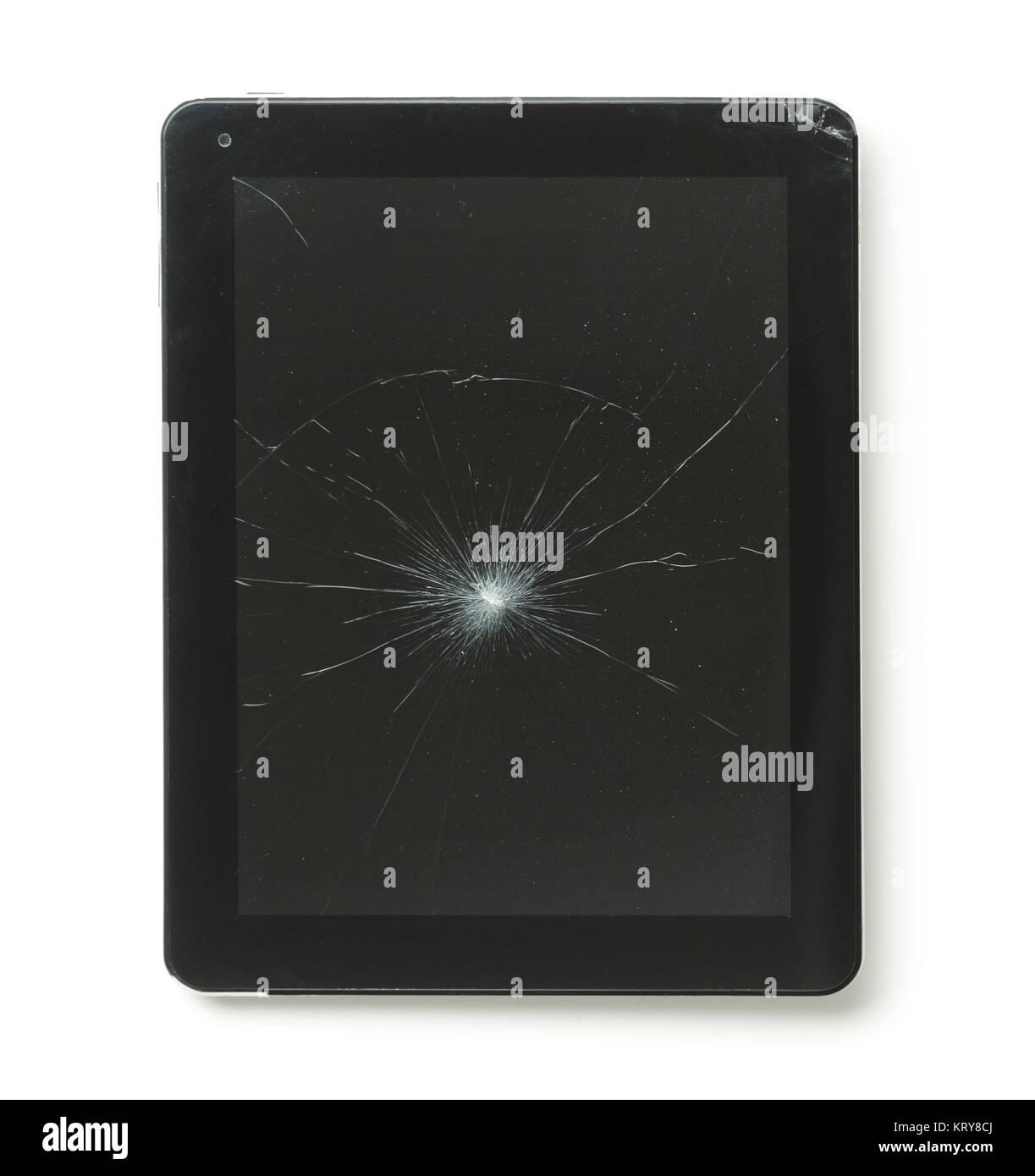 Tablet Pc Con Schermo Rotto Foto Immagine Stock 169629730 Alamy