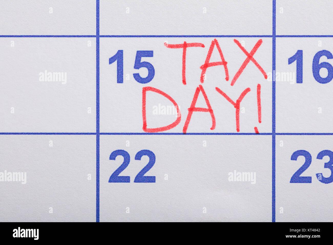 Imposta Calendario.Imposta Giorno Scritto Sul Calendario Foto Immagine Stock