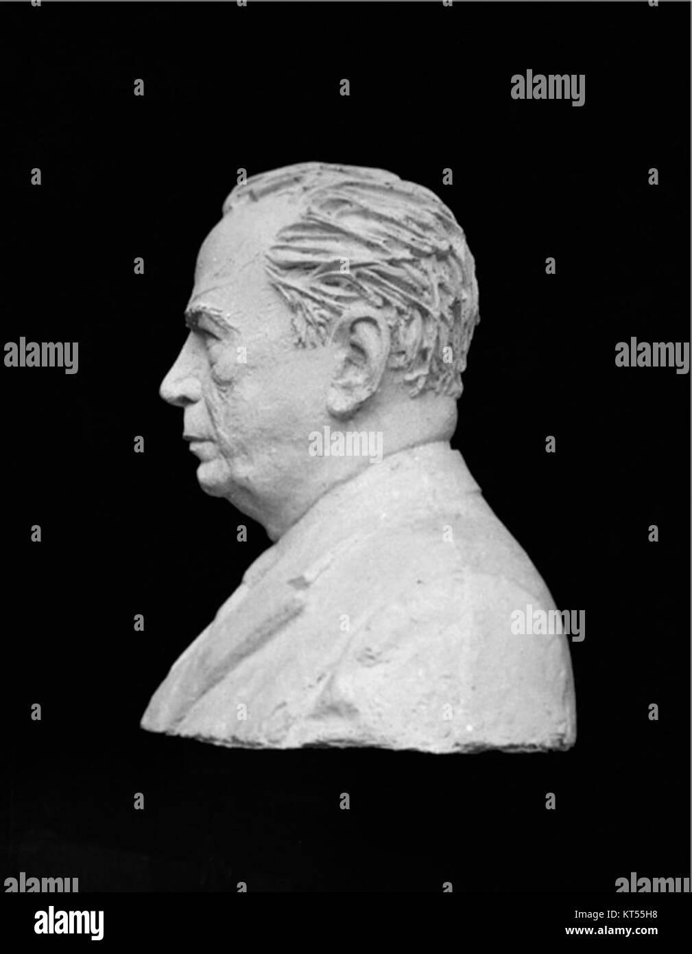 Molde en positivo del busto de RC3B3mulo Gallegos Immagini Stock