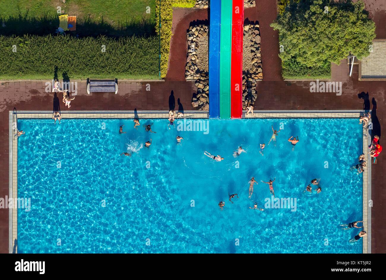 Tempo libero Sternbusch Kleve, colorato acqua scivolo, balneazione, piscina, piscina, Kleve, Niederrhein, Renania Immagini Stock