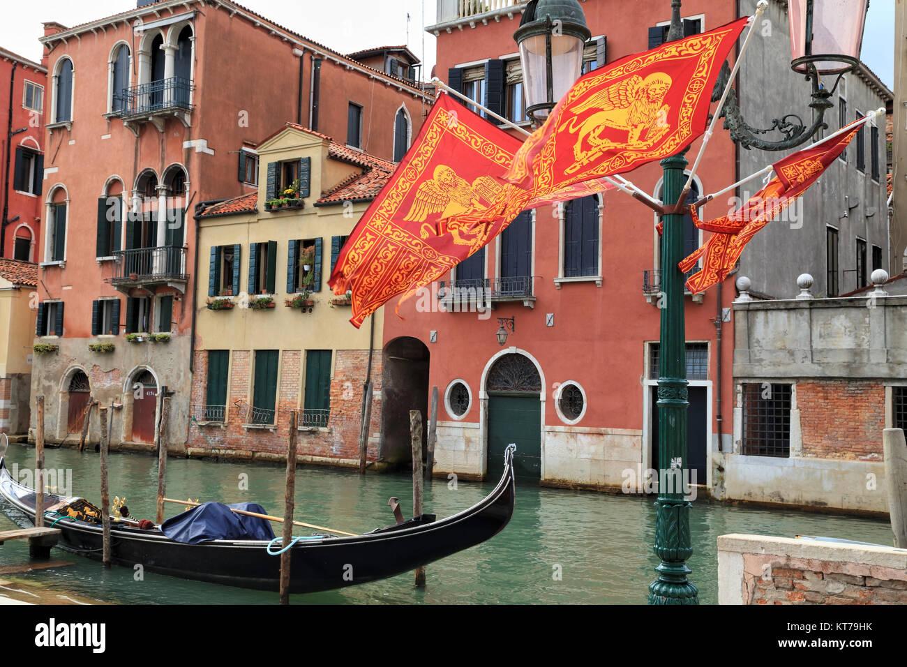 Bandiere veneziano Foto Stock