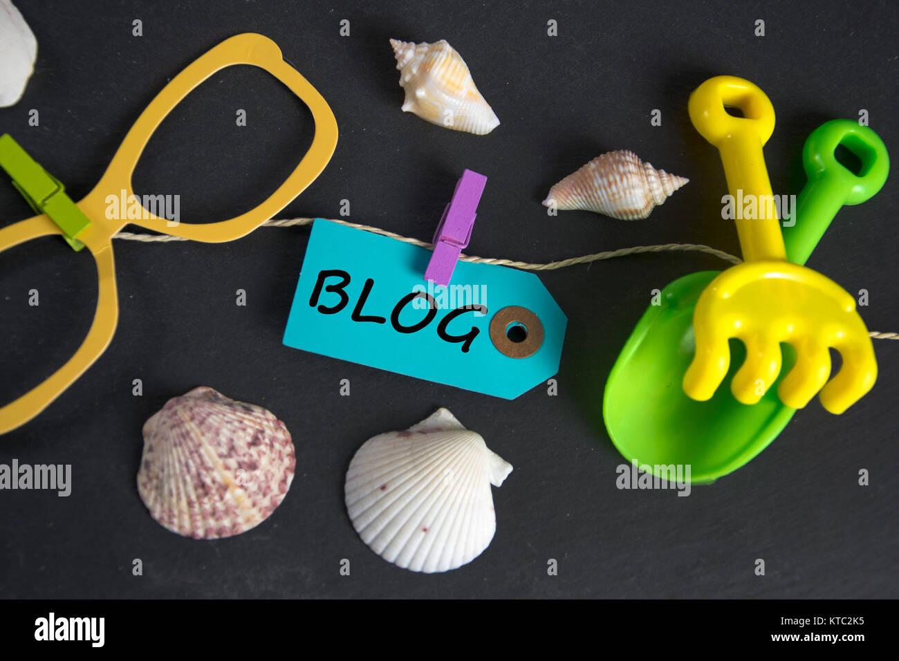 Symbolfoto für einen Reiseblog Foto Stock