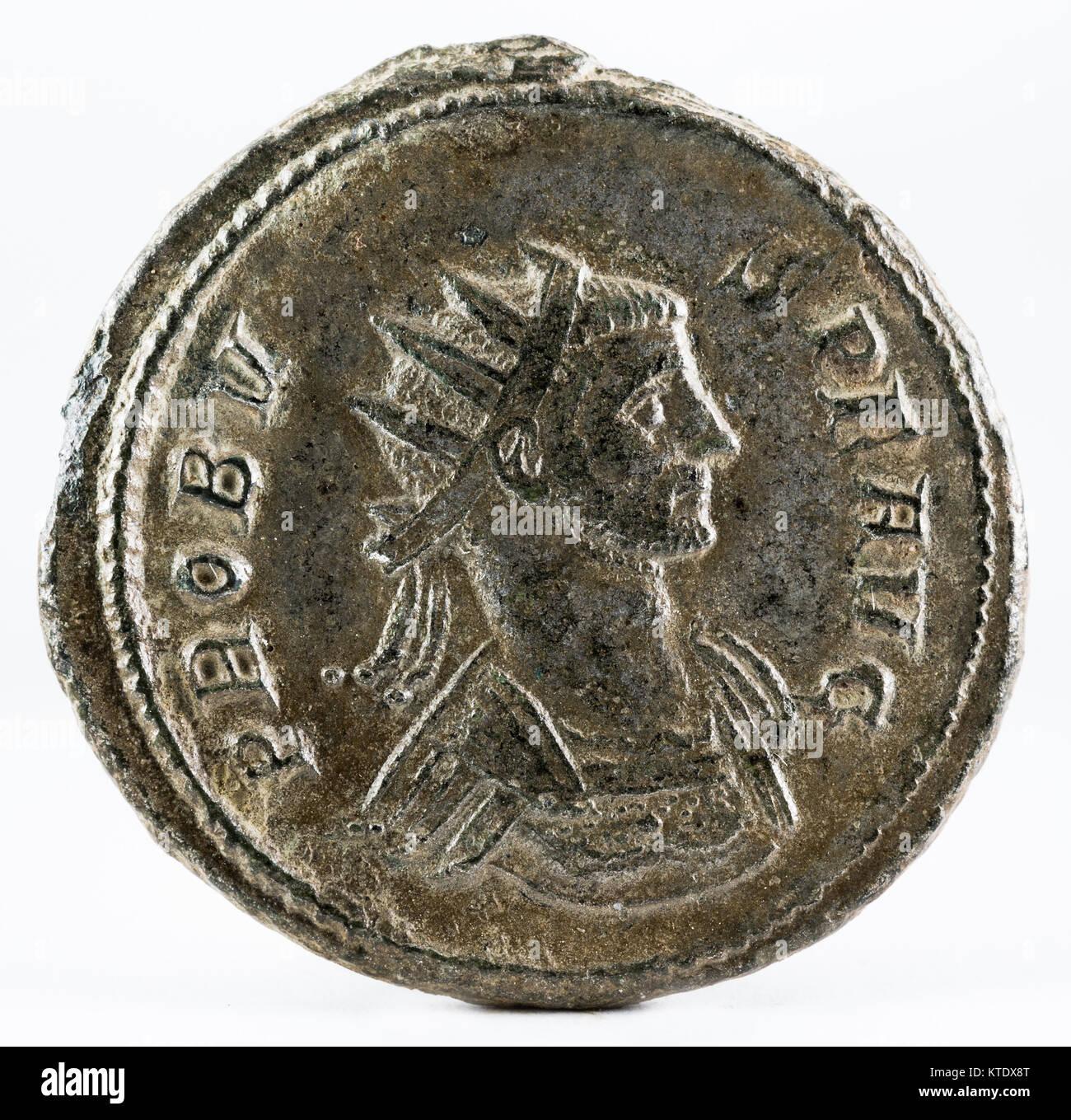 41d65e1ad4 Romana antica moneta di rame dell'Imperatore Probo. Complementare. Immagini  Stock