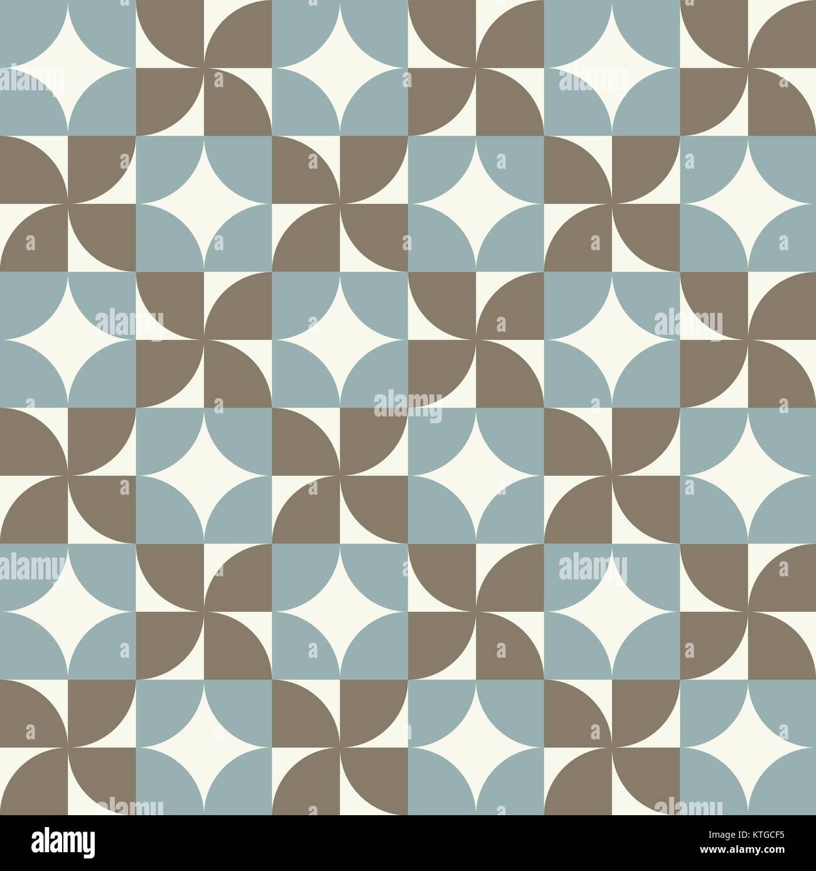 Seamless vintage usurati geometria assemblare lo sfondo del modello Immagini Stock