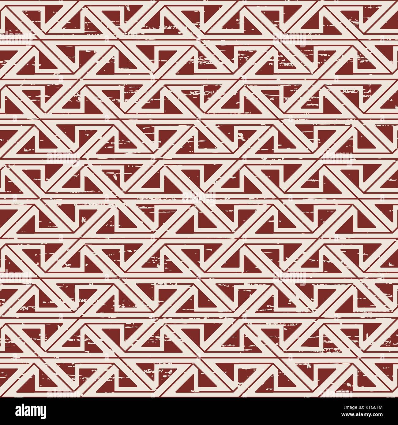Seamless usurati aborigena geometria triangolo sullo sfondo del modello Immagini Stock