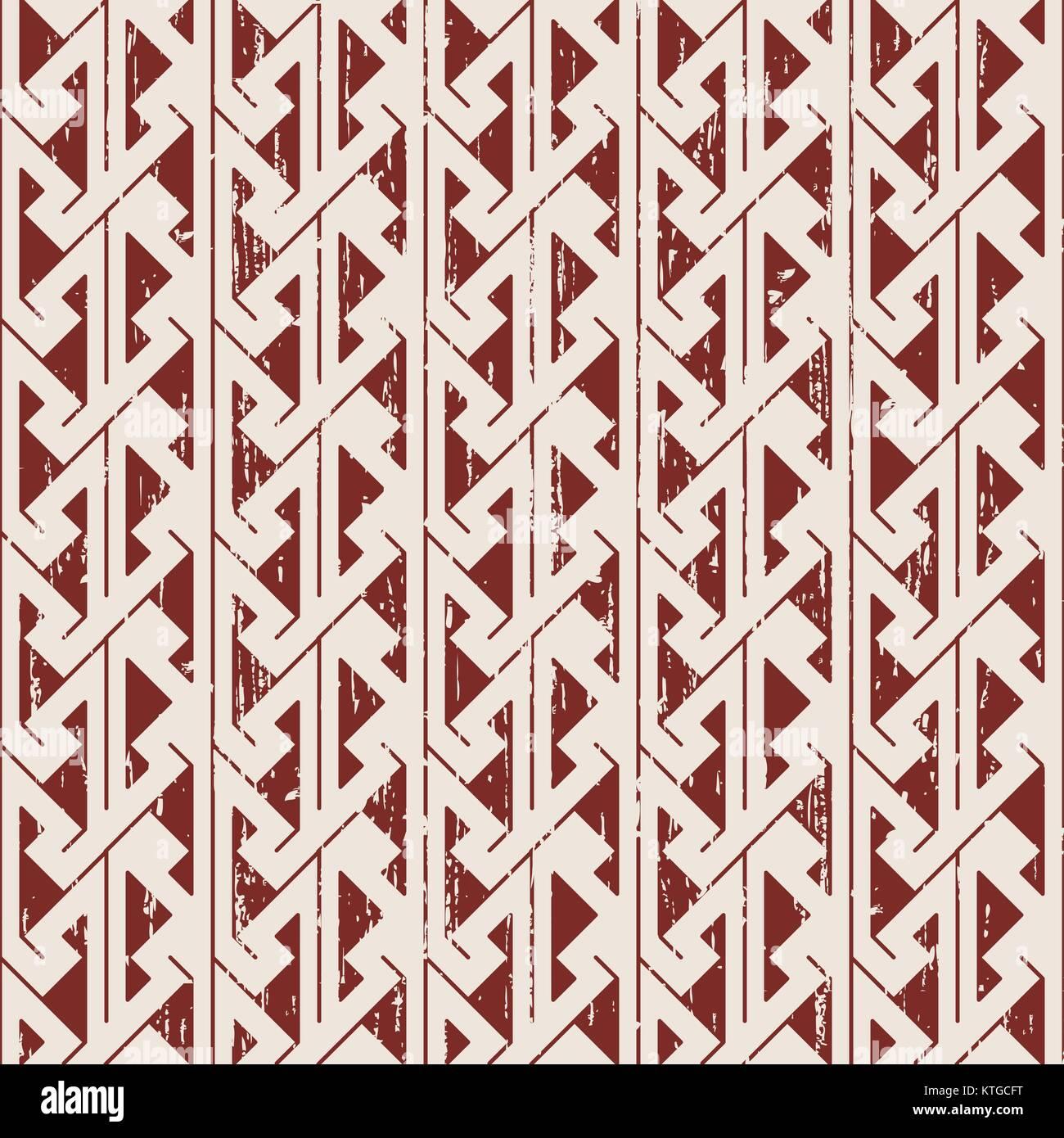 Seamless usurata a dente di sega di geometria aborigena sfondo pattern Immagini Stock