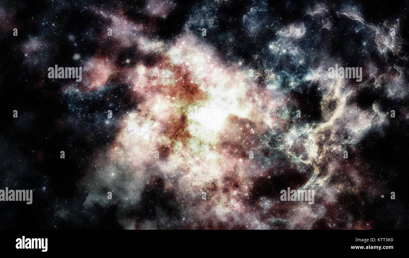 Cosmic nuvole di nebbia sulla luminosa sfondi colorati. Elementi arredate dalla NASA Immagini Stock