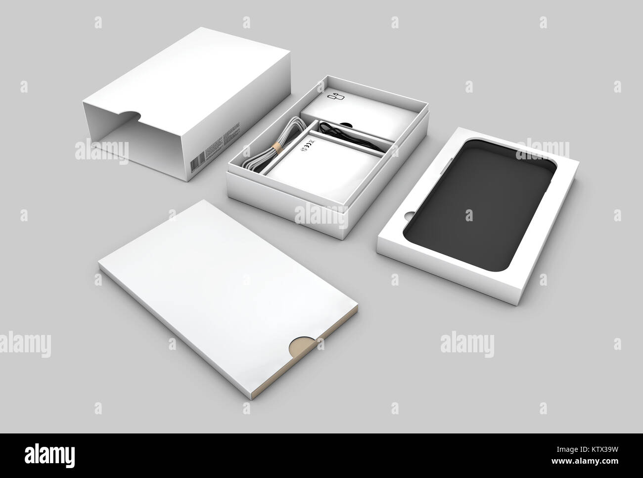 Vuoto In Confezione Aperta Package Per Telefono Cellulare Isolato Su