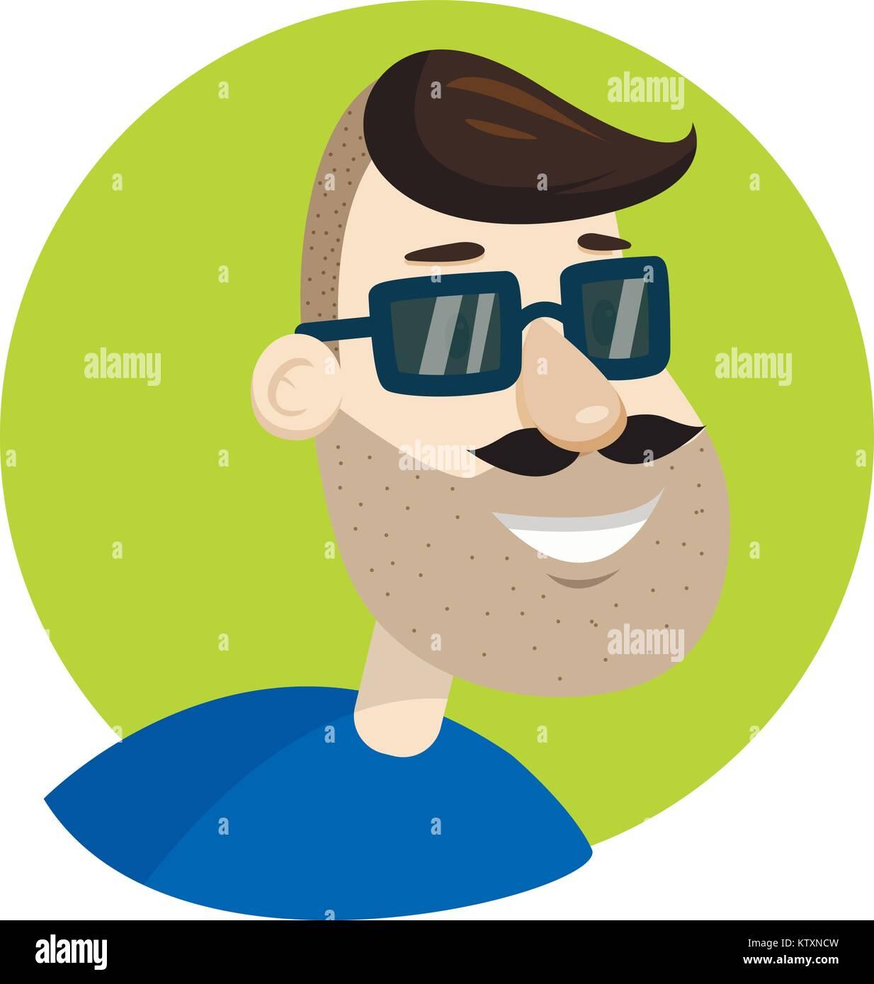 Mustache amp; Alamy Boy Fotos Cartoon Immagini Stock Rv1FwxHq