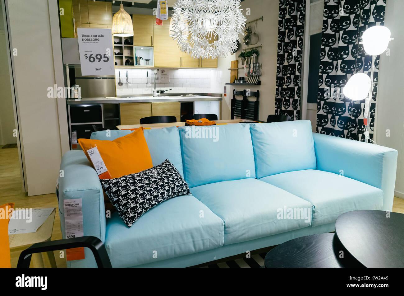 Modello di cucina e soggiorno a Ikea show room in Tempe, Sydney ...