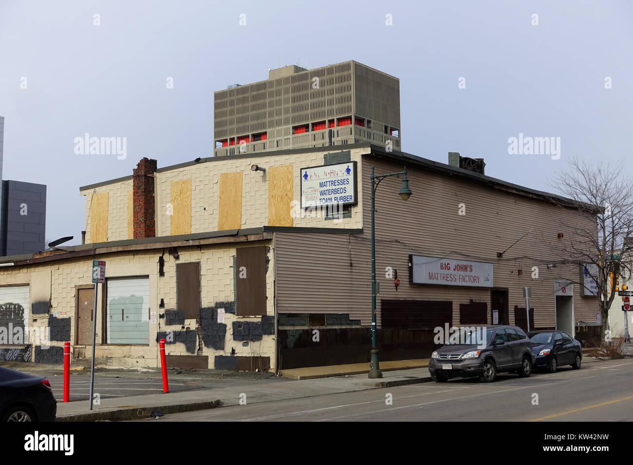 Big John's Mattress Factory Cambridge, MA DSC05690 Immagini Stock