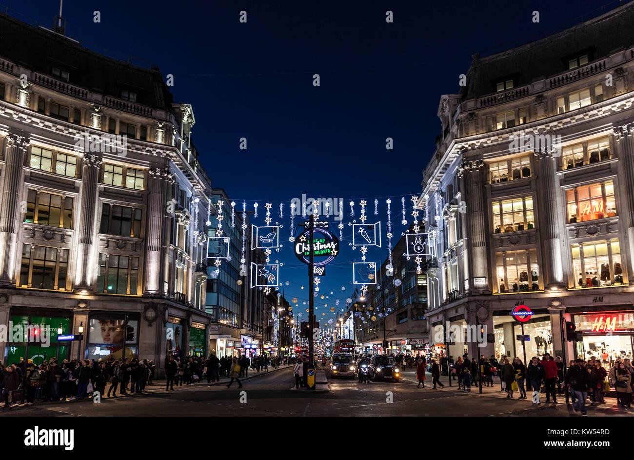 Decorazioni Natalizie Londra.Oxford Street Luci E Decorazioni Natalizie Londra Inghilterra
