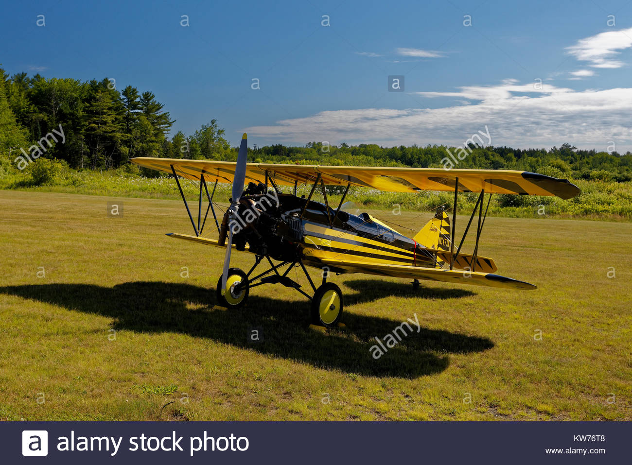 1930 Curtiss-Wright Tavel aria D-4000 Speedwing (restauro) Immagini Stock