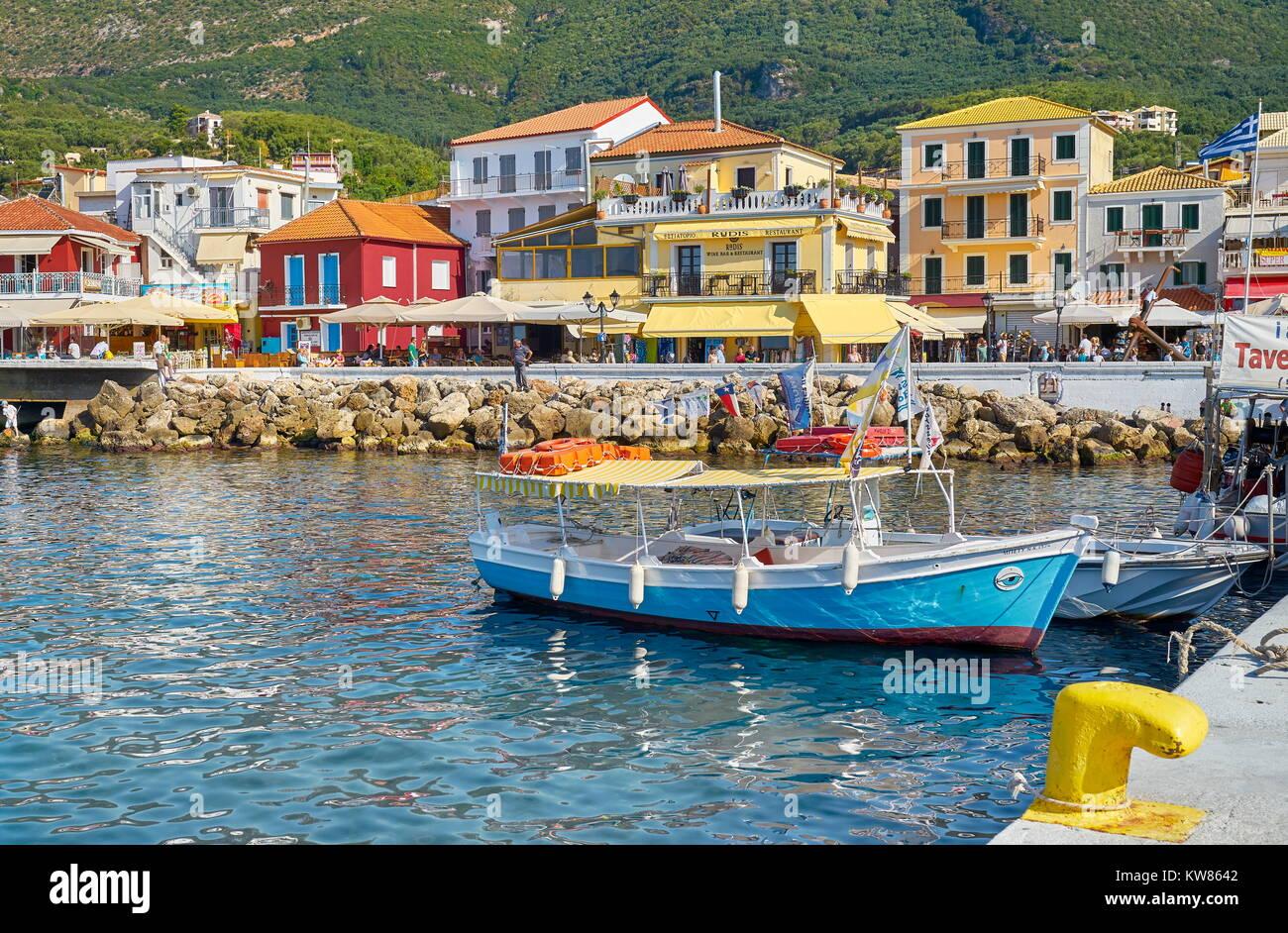 Parga, sulla costa ionica, Grecia Immagini Stock