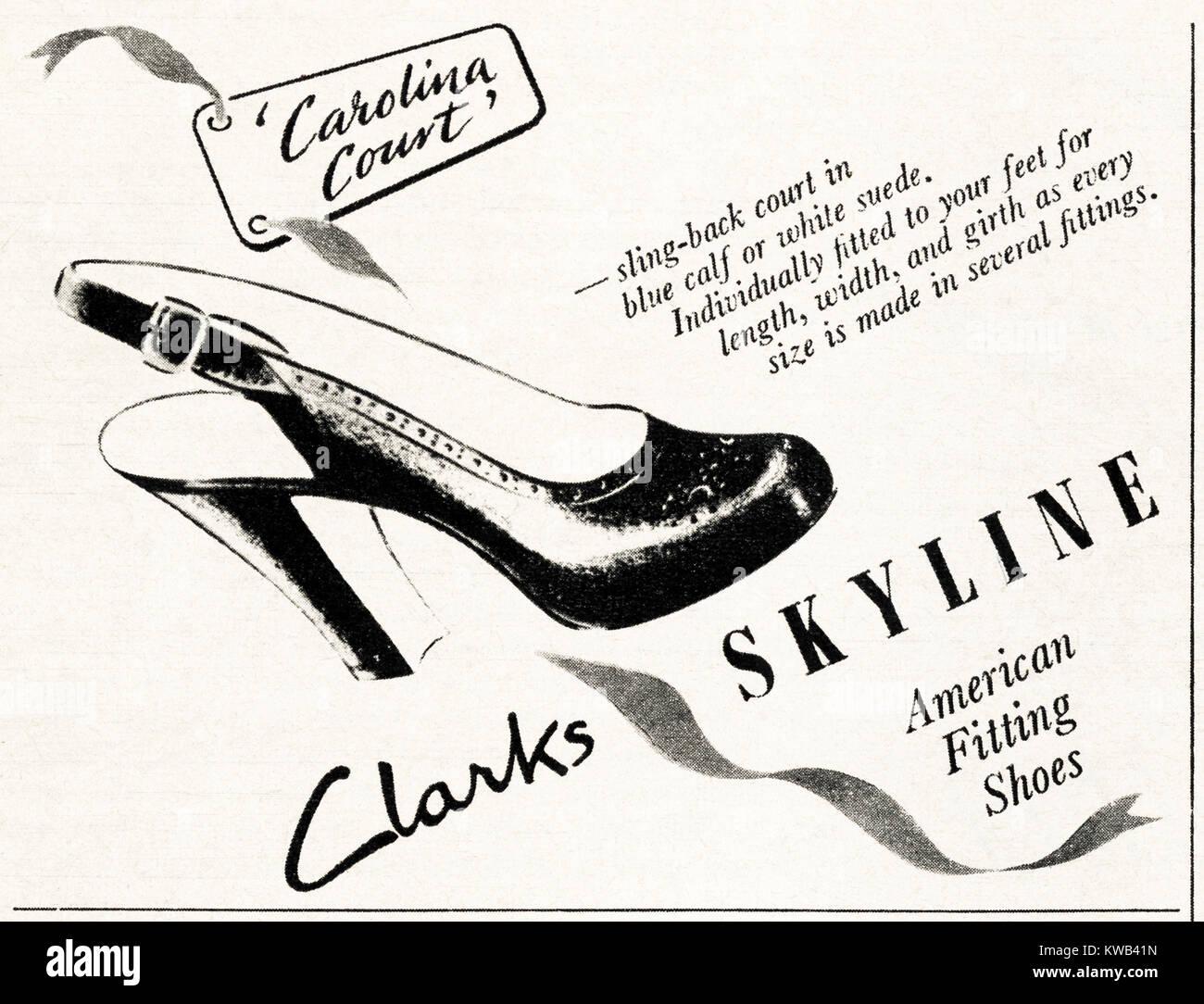 Originale Vecchio Pubblicità Skyline 1940s Clarks Vintage q1dOEcCw