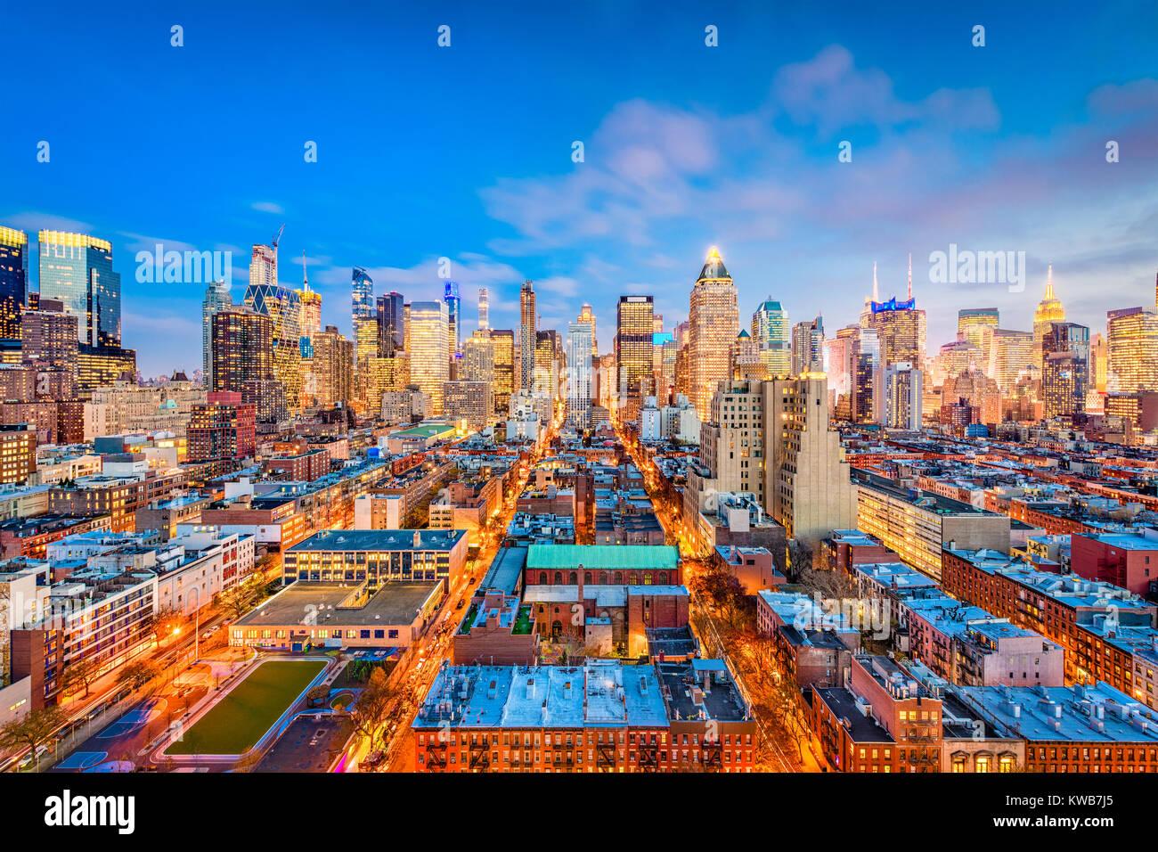 New York, New York, Stati Uniti d'America Midtown Manhattan cityscape. Immagini Stock
