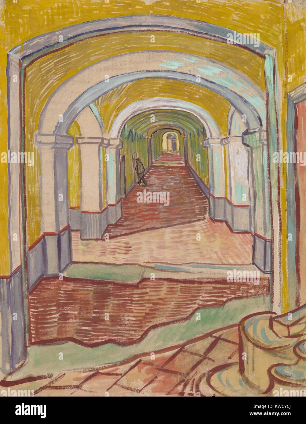 Corridoio All Asilo Di Vincent Van Gogh 1889 Olandese Post