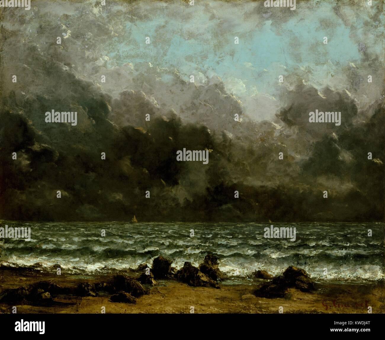 Il mare, da Gustave Courbet, 1865, la pittura francese, olio ...