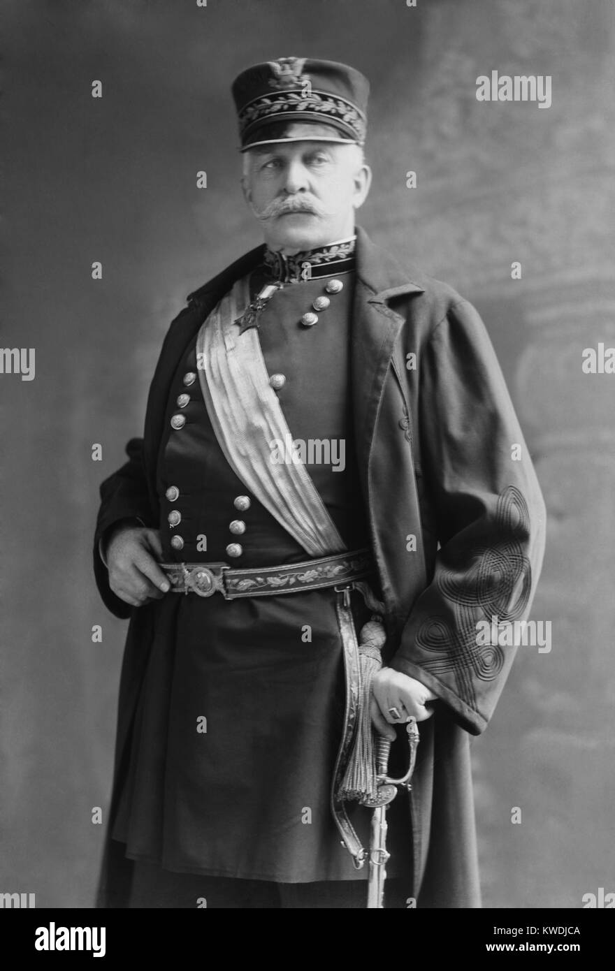 Gen. Nelson miglia, aveva ambizioni presidenziali dopo la vittoria nella guerra ispano-americana. Egli ha stabilito Immagini Stock