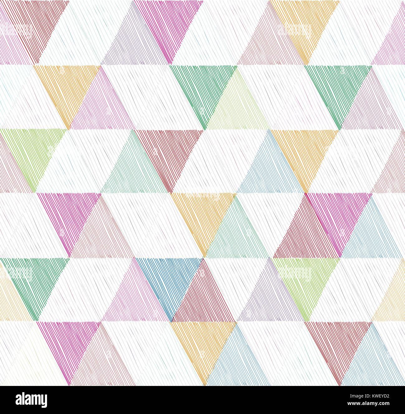 Geometrica Astratta Seamless Pattern Con Spogliato Triangolo
