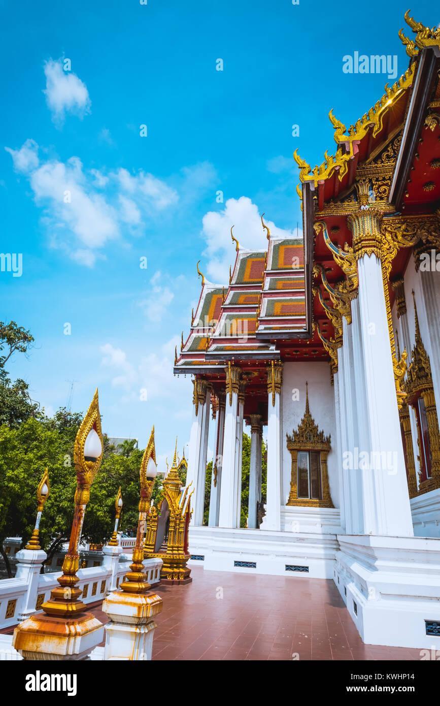 Bangkok Wat Bopitpimuk Worawihan, Thailandia Foto Stock