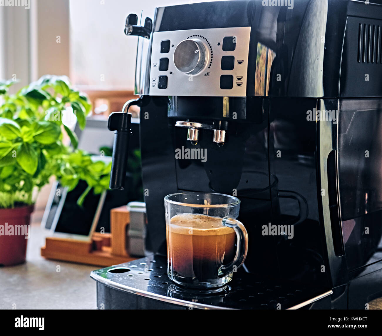 Macchine per caffè professionali per uso domestico. In cucina Foto ...