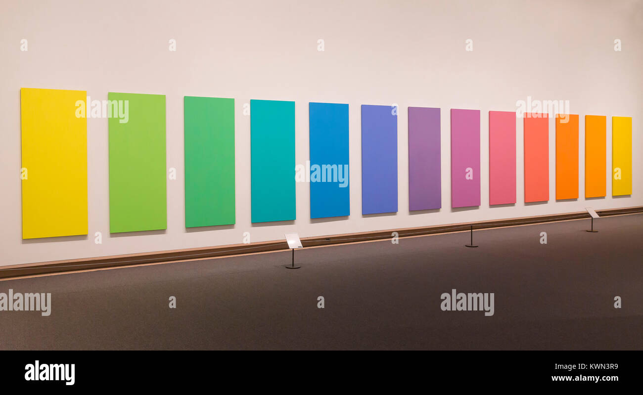 In Memoriam, spettro V, Ellsworth Kelly, 1969, Metropolitan Museum of Art, Manhattan, New York City, Stati Uniti Immagini Stock