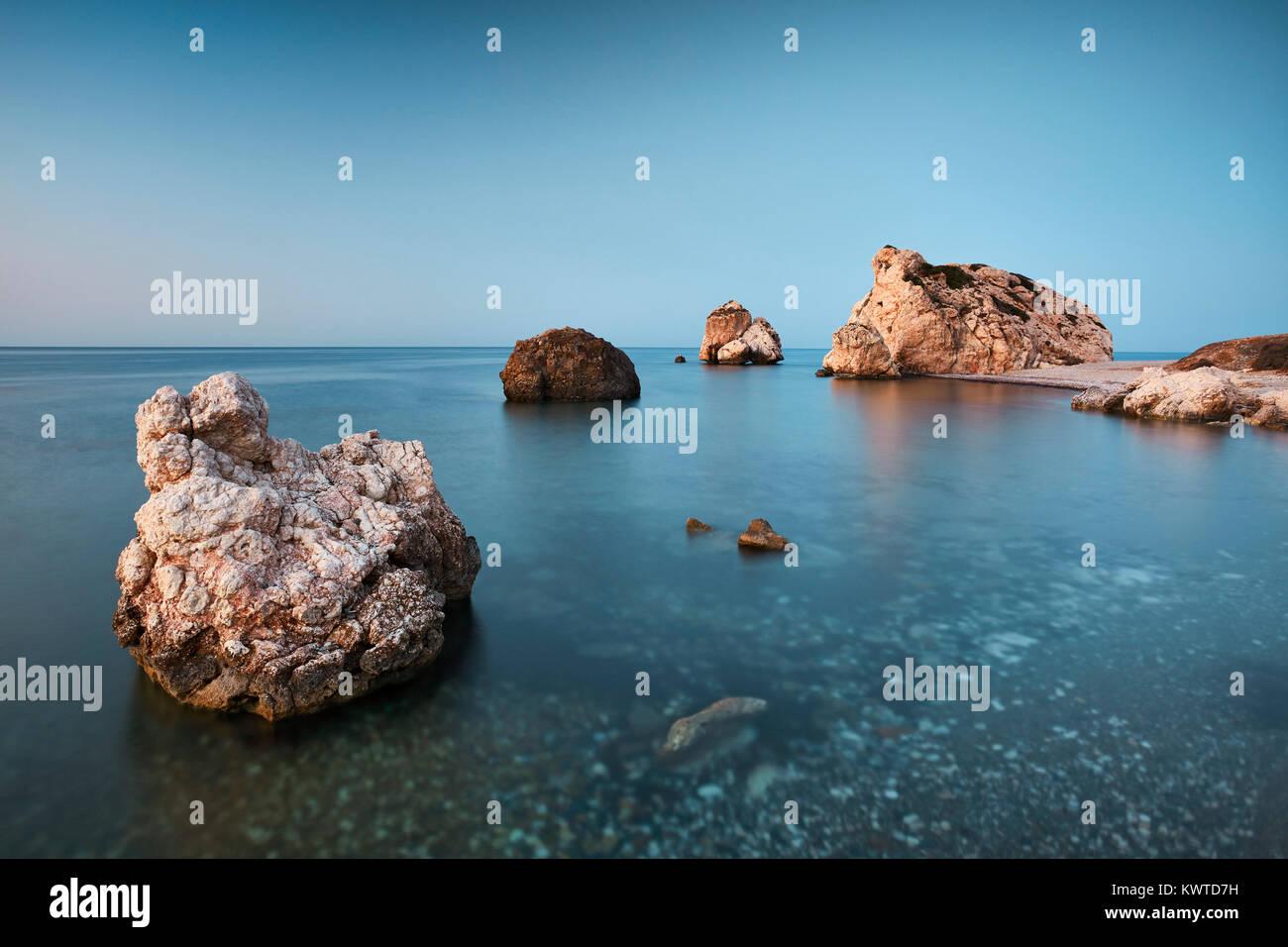 Roccia di Afrodite (Petra tou Romiou), Paphos, Cipro Immagini Stock