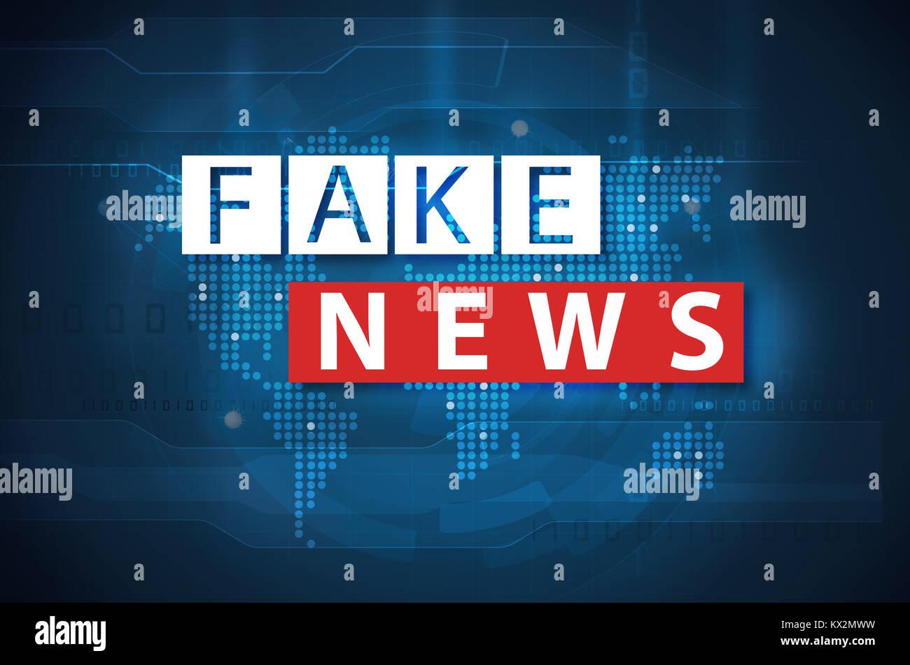 Notizie false e disinformazione concept Immagini Stock
