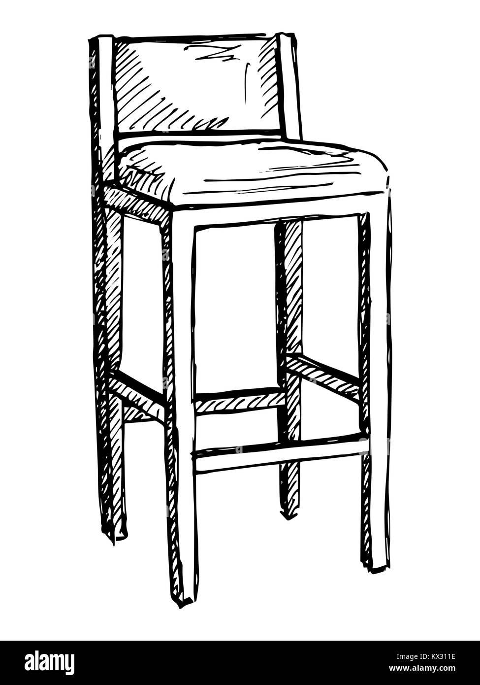 Bar sedia isolare su sfondo bianco. Illustrazione Vettoriale