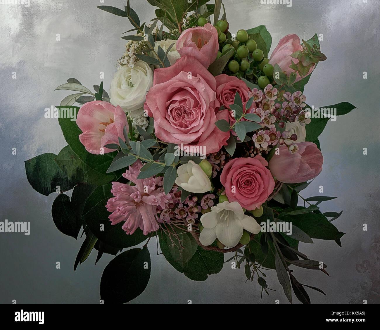 Arte della foto: composizione floreale Immagini Stock