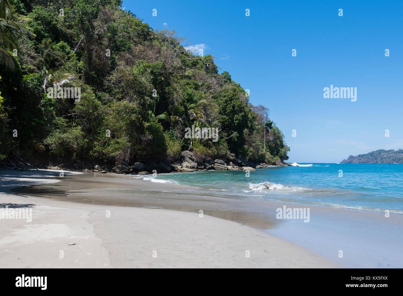 Palm Beach, Parco Nazionale di Manuel Antonio, Costa Rica Immagini Stock