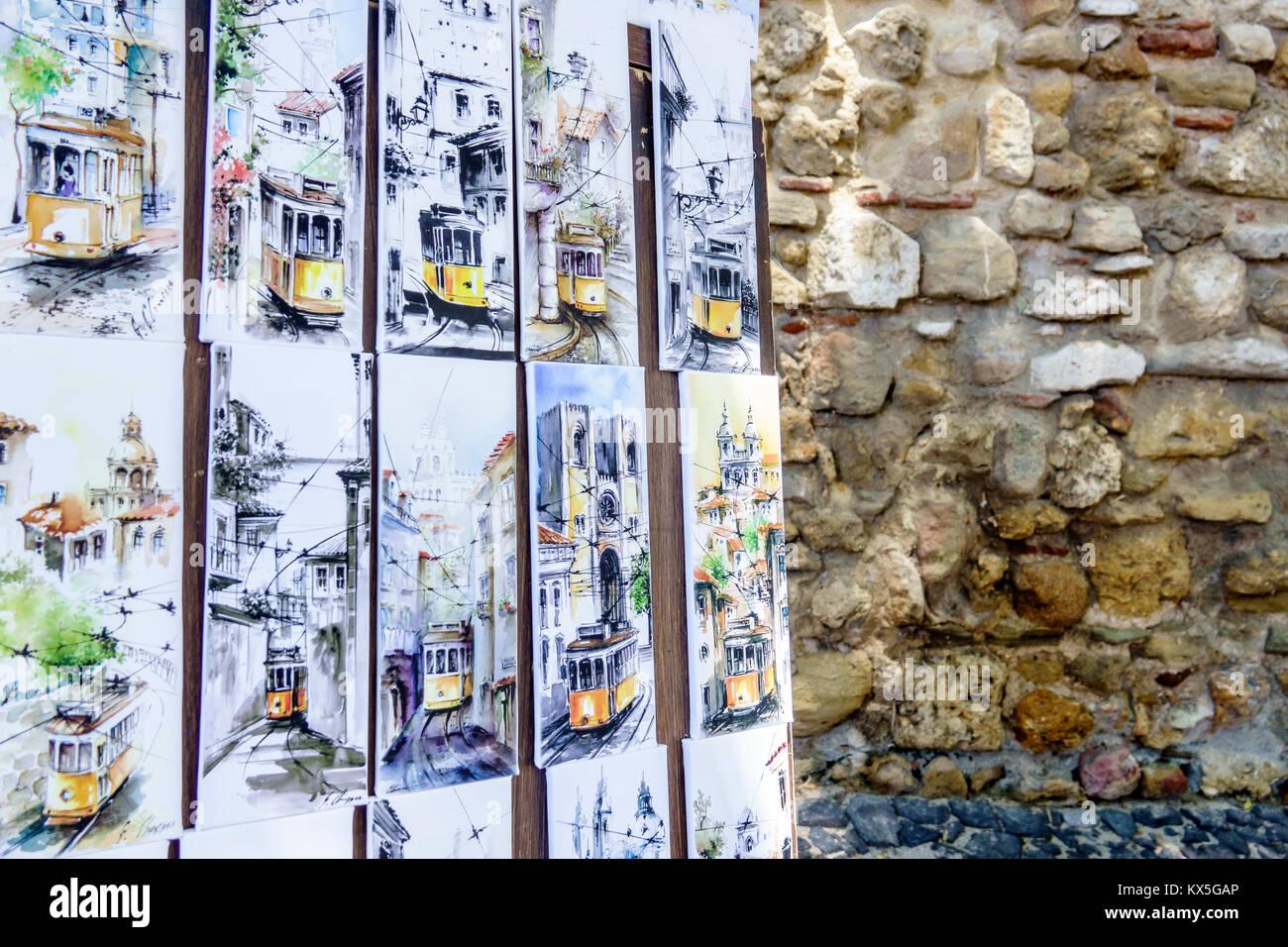Lisbona portogallo castelo trimestre shopping regalo negozio di