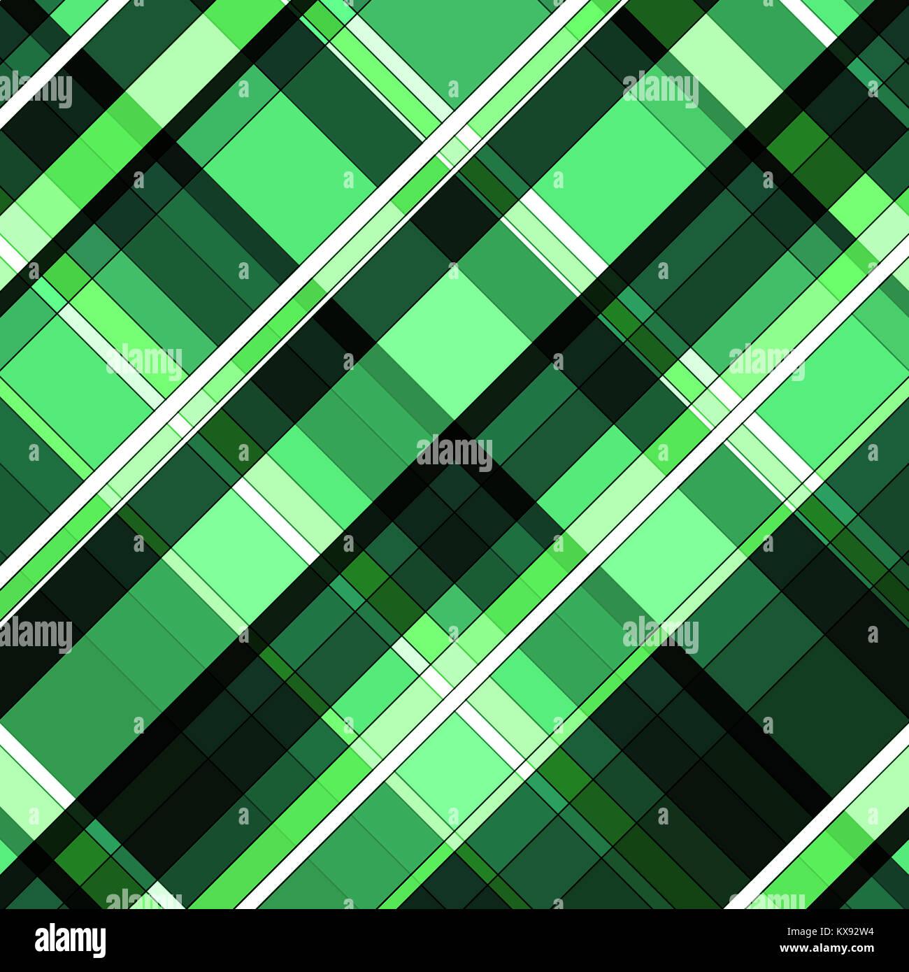 Verde E Nero Controllato A Strisce Diagonali Di Sfondo Del Modello