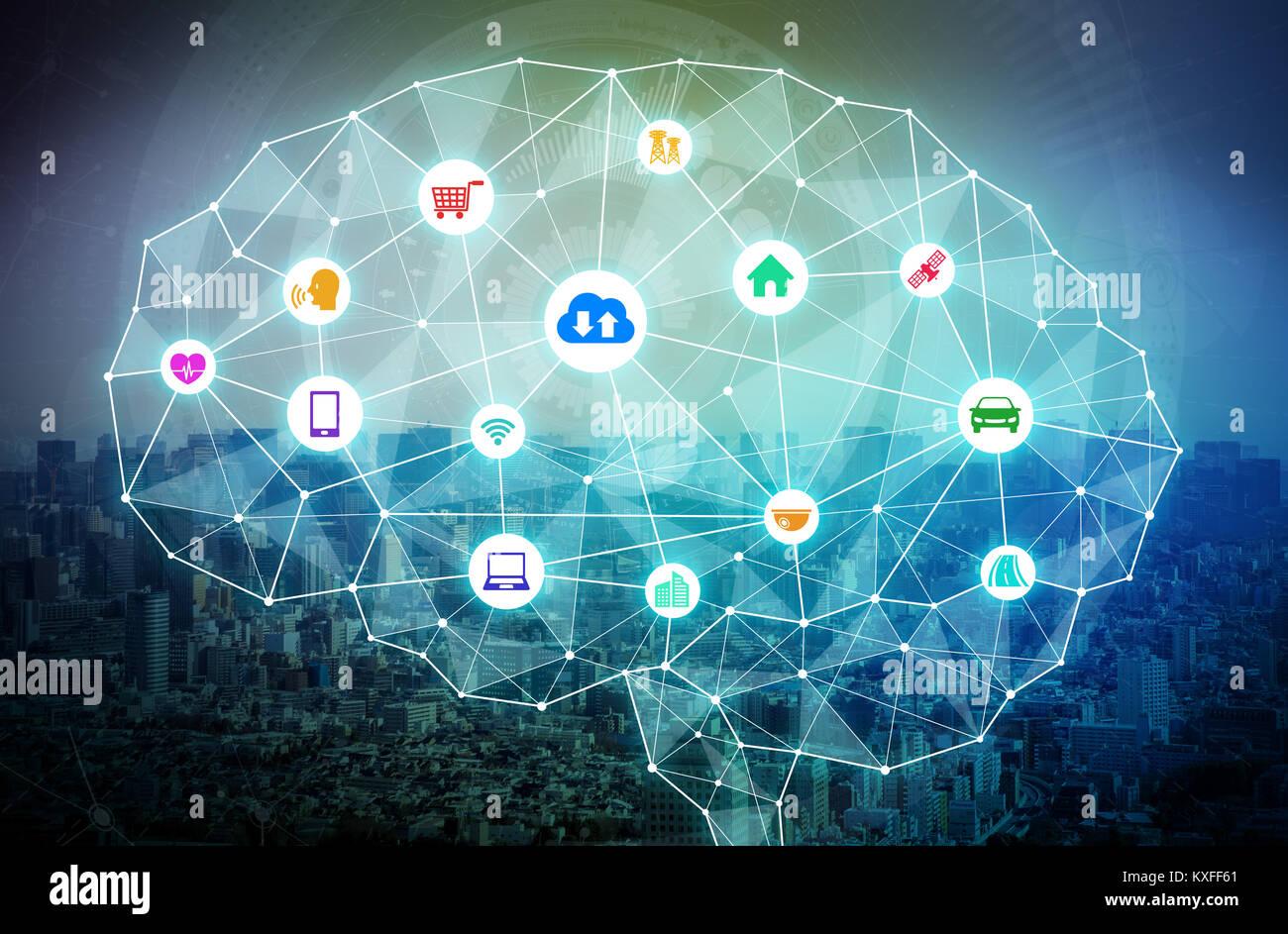 AI(artificial intelligence) concetto. Immagini Stock