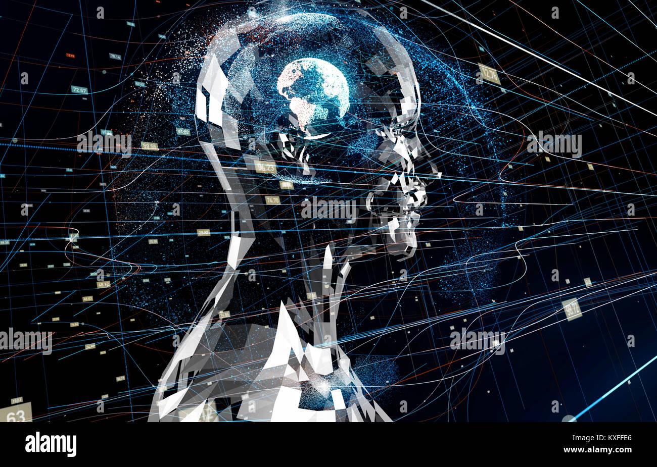 AI(Artificial Intelligence) concetto. Foto Stock