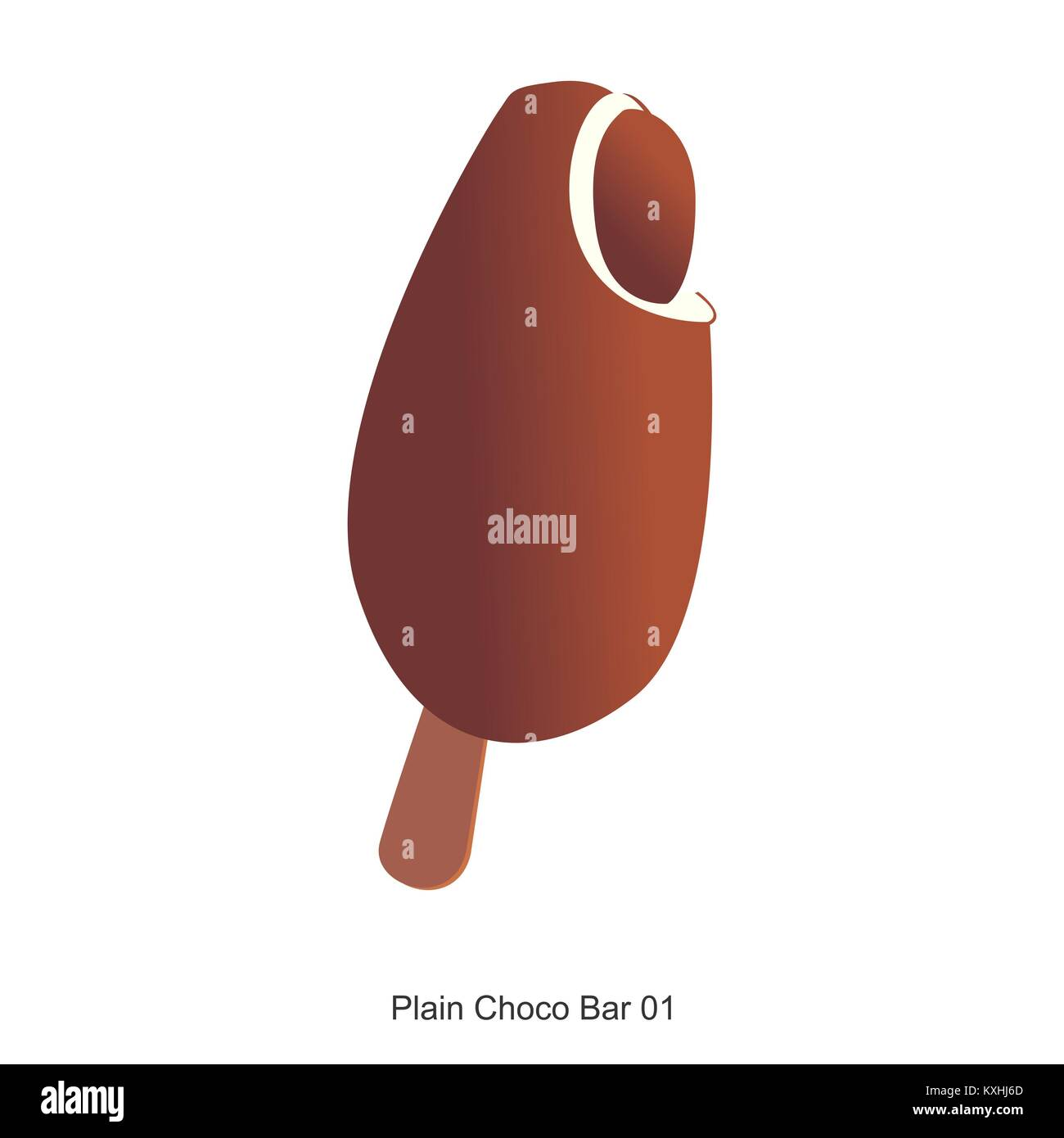 Plain Choco Bar Immagini Stock