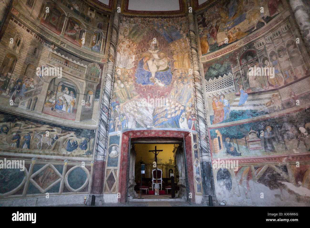 Napoli. L'Italia. La quattrocentesca chiesa di San Giovanni a Carbonara. Caracciolo del Sole Cappella (Cappella Immagini Stock