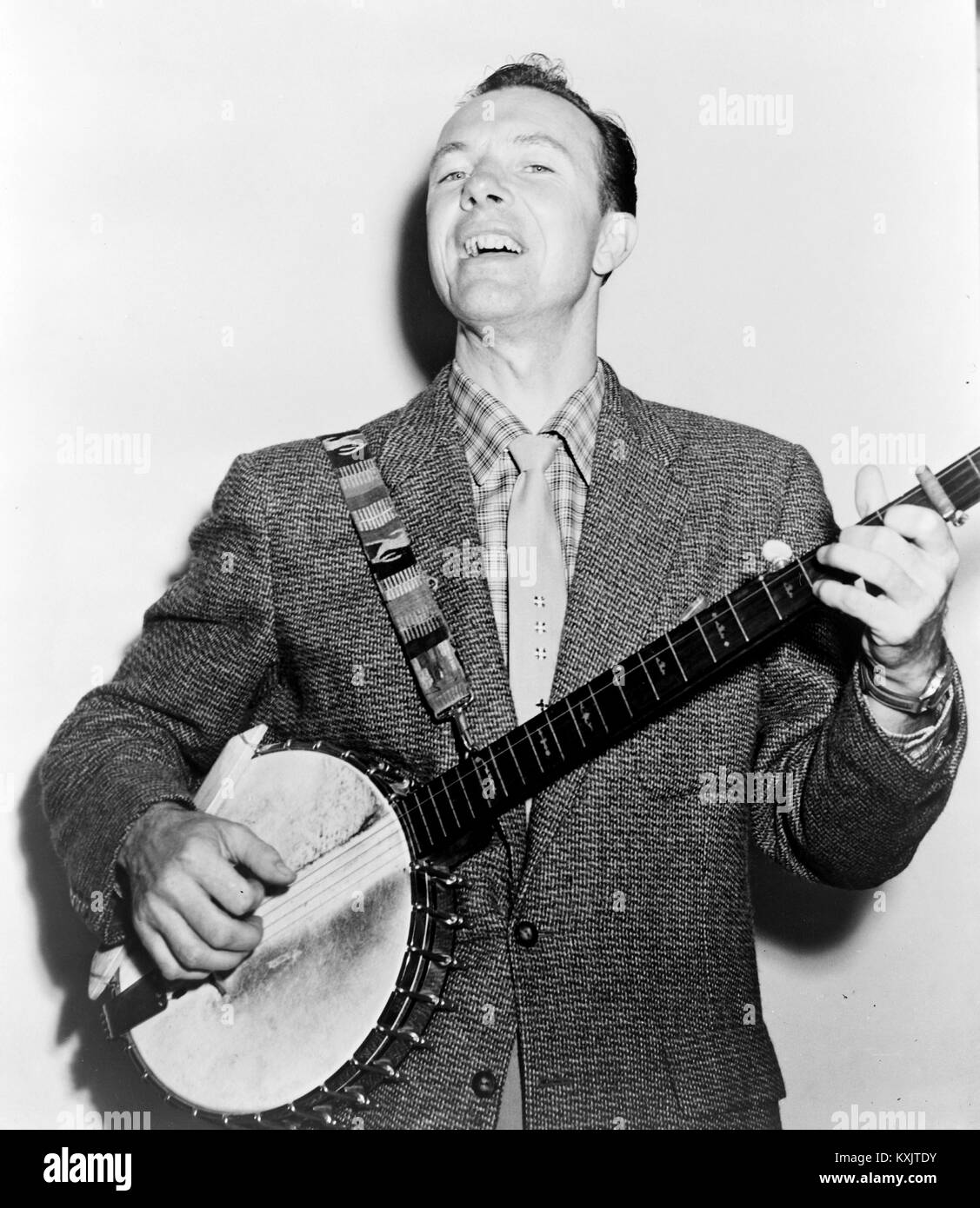 Pete Seeger, Peter Seeger, American Folk singer Immagini Stock