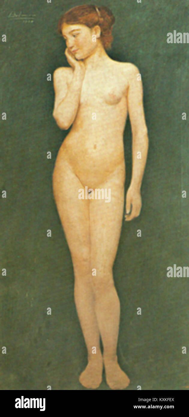 Belmiro de Almeida - Adolescente, 1904 Immagini Stock