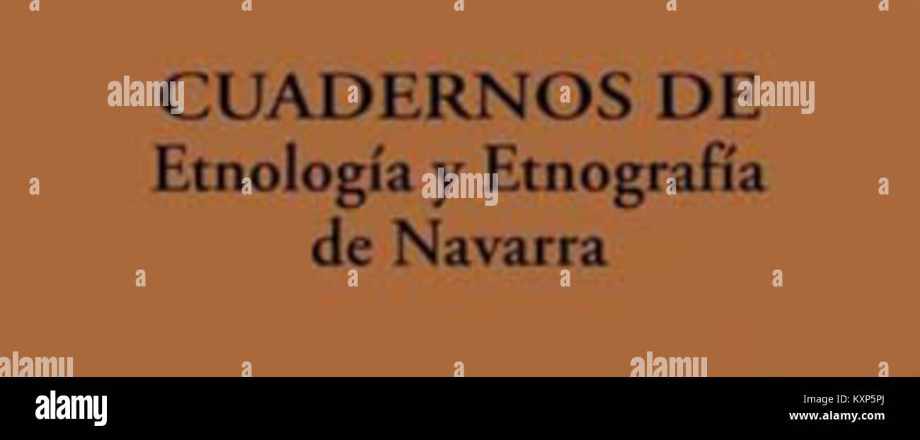 Cuadernos de Etnología y Etnografía de Navarra Immagini Stock