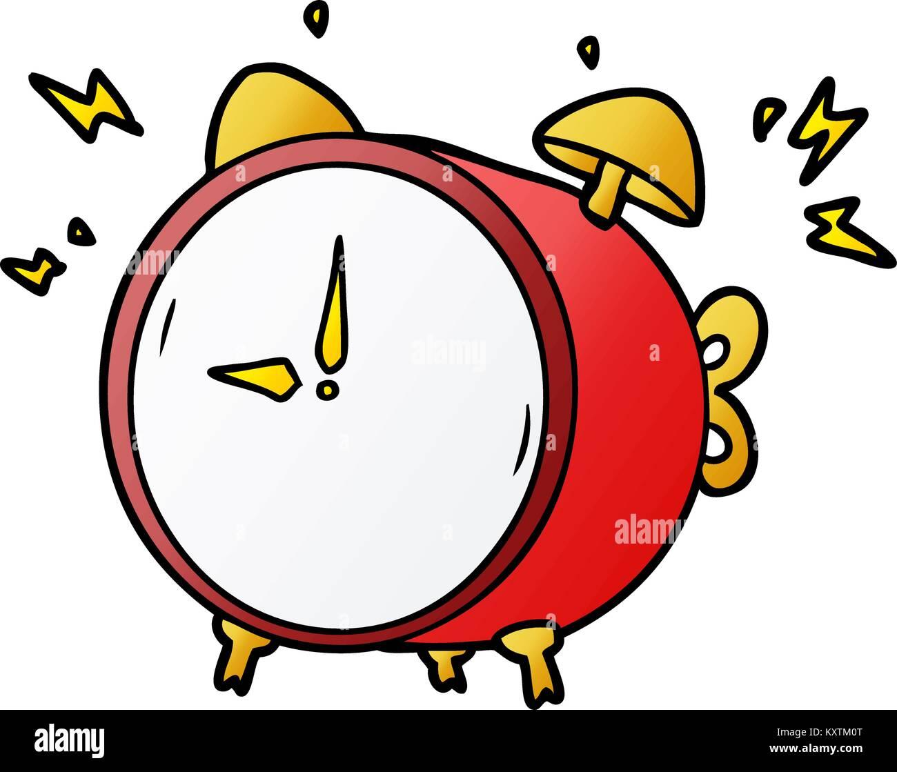 Disegno Sveglia Che Suona.Cartoon La Suoneria Sveglia Illustrazione Vettoriale 171416920