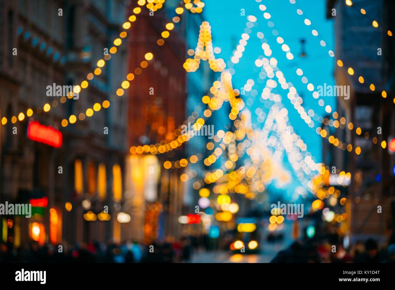 Helsinki finlandia nuovo anno luci boke xmas decorazione per